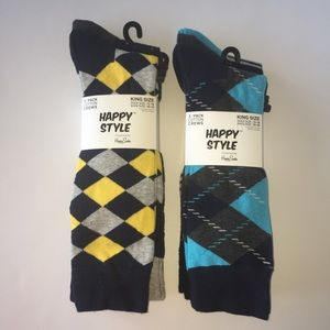 Other - 6 Pairs Of Men's Pattern Socks